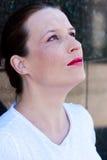 Schönes junges green-eyed Mädchen Lizenzfreies Stockfoto