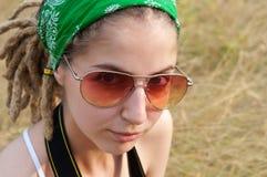 Schönes junges Hippiemädchen Stockbild