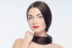Schönes junges kaukasisches Mädchen stockbild