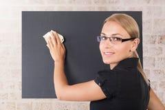 Schönes junges Lehrerporträt stockfotografie