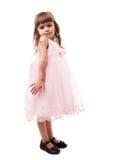 Schönes junges Mädchen getrennt auf Weiß stockfotos