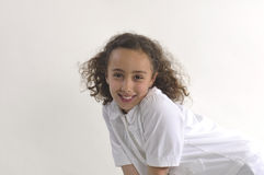 Schönes junges Mädchen Lächeln Lizenzfreies Stockfoto