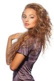 Schönes junges Mädchen mit dem langen Haar Lizenzfreie Stockfotos