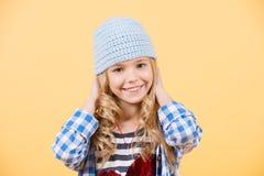 Schönes junges Mädchen mit Innerem Stockfotos