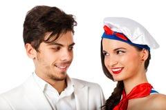 Schönes junges Paarlächeln Lizenzfreie Stockfotografie