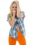 Schönes junges sexy kaukasisches Zauber-Modell Posing Pin Up Lizenzfreies Stockfoto