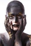 Schönes, künstlerisches Make-up Lizenzfreie Stockfotos