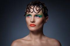Schönes, künstlerisches Make-up Lizenzfreies Stockfoto