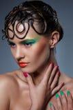 Schönes, künstlerisches Make-up Stockfotos
