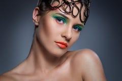 Schönes, künstlerisches Make-up Stockbild
