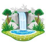 Schönes Karikatur waterwall. stock abbildung