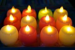 Schönes Kerzenlicht am schönen Kerzenlicht der Nacht A nachts zur Abendessenzeit lizenzfreie stockbilder