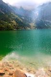 Schönes klares Wasser in einem Gebirgssee Lizenzfreie Stockfotos
