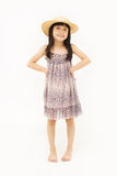 Glückliches kleines asiatisches Mädchen Lizenzfreies Stockfoto