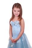 Schönes kleines Mädchen im Prinzessinkleid. Stockfoto