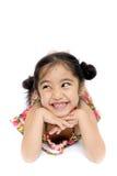 Schönes kleines Mädchen im Sommerkleid Stockfotos