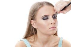 Schönes Konzept der jungen Frau Face.Make-up Lizenzfreies Stockbild