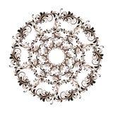 Schönes Kreismuster von Blumen stock abbildung