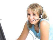 Schönes Kundenbetreuungs-Mädchen Lizenzfreie Stockfotos