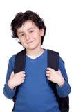 Schönes Kursteilnehmerkind mit Rucksack lizenzfreie stockbilder