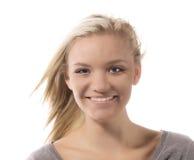 Schönes Lächeln jugendlich stockfoto