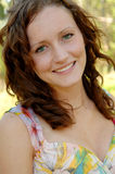 Schönes lächelndes frisches Gesicht Lizenzfreies Stockfoto