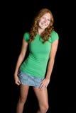 Schönes lächelndes jugendlich Mädchen Stockfotos