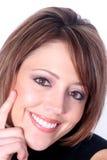Schönes lächelndes Redhead-Portrait Stockfoto