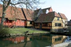 Schönes Landschafthaus Lizenzfreie Stockbilder