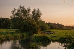 Schönes Landschaftsbild von Burford-Dorf auf Englisch Cotswold stockfotos