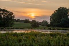 Schönes Landschaftsbild von Burford-Dorf auf Englisch Cotswold lizenzfreie stockbilder