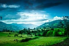 Schönes Landschaftsfoto von BoyacÃ-¡, Kolumbien Lizenzfreie Stockfotografie