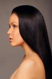 Schönes langes glänzendes Haar Stockfoto