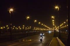 Schönes Licht an der Landstraße lizenzfreie stockbilder