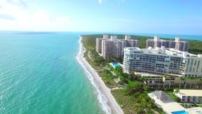 Schönes Luftvideo von Key Biscayne stock footage