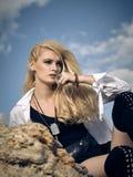 Schönes Mädchen auf dem Strand #6 Lizenzfreie Stockbilder