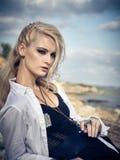Schönes Mädchen auf dem Strand #6 Lizenzfreie Stockfotografie