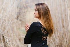Schönes Mädchen in den verschiedenen Haltungen Stockfotos