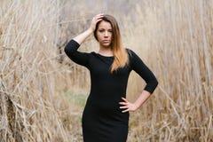 Schönes Mädchen in den verschiedenen Haltungen Stockbilder