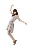 Schönes Mädchen in der Bewegung Lizenzfreies Stockfoto