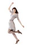 Schönes Mädchen in der Bewegung Stockfoto