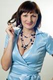 Schönes Mädchen in der Bluse Lizenzfreies Stockfoto