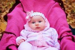 Schönes Mädchen in der Kleidung eines Rosaschätzchens lizenzfreies stockfoto