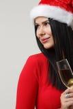 Schönes Mädchen in der Weihnachtsnahaufnahme Lizenzfreie Stockfotografie