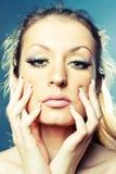 Schönes Mädchen des Gesichtes Stockfotografie
