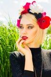 Schönes Mädchen des Portraits Lizenzfreies Stockfoto