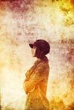 Schönes Mädchen des Portraits mit Schal. Lizenzfreie Stockfotos