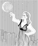 Schönes Mädchen in einem Nachthemd Lizenzfreies Stockfoto