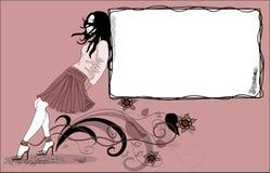 Schönes Mädchen in einem stilvollen Stockbilder