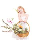 Schönes Mädchen getrennt auf Weiß Lizenzfreies Stockfoto